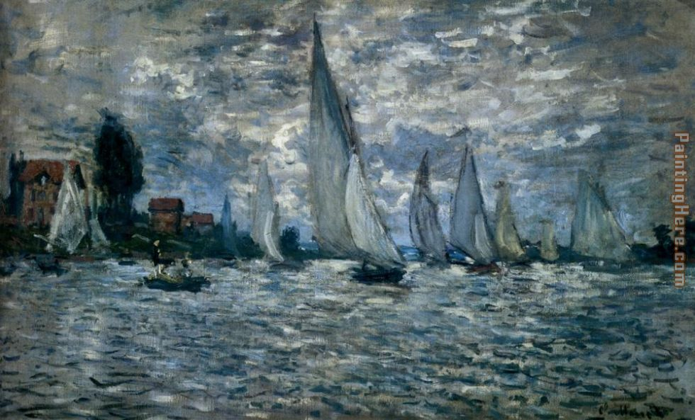 The Boats Regatta At Argenteuil painting - Claude Monet The Boats Regatta At Argenteuil art painting