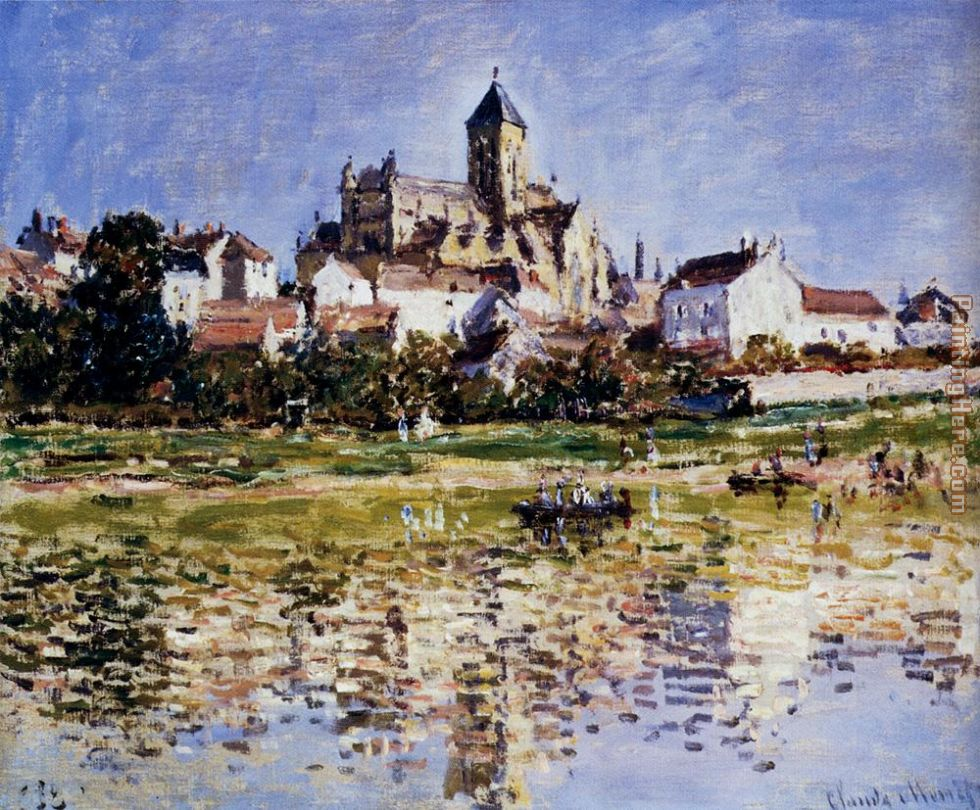 Claude Monet The Church At Vetheuil Art Painting