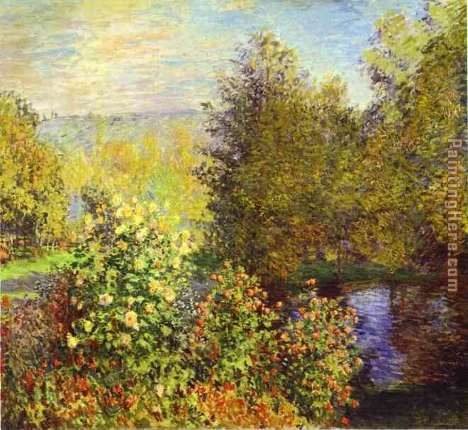 The Corner of the Garden at Montgeron painting - Claude Monet The Corner of the Garden at Montgeron art painting