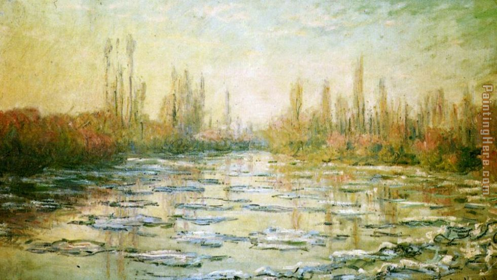 The Ice-Floes painting - Claude Monet The Ice-Floes art painting