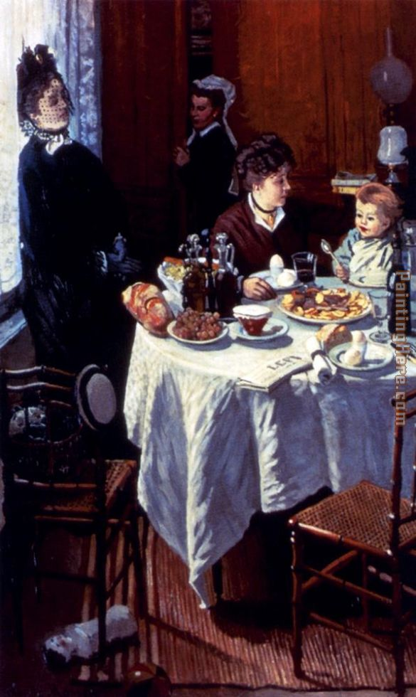 The Luncheon painting - Claude Monet The Luncheon art painting