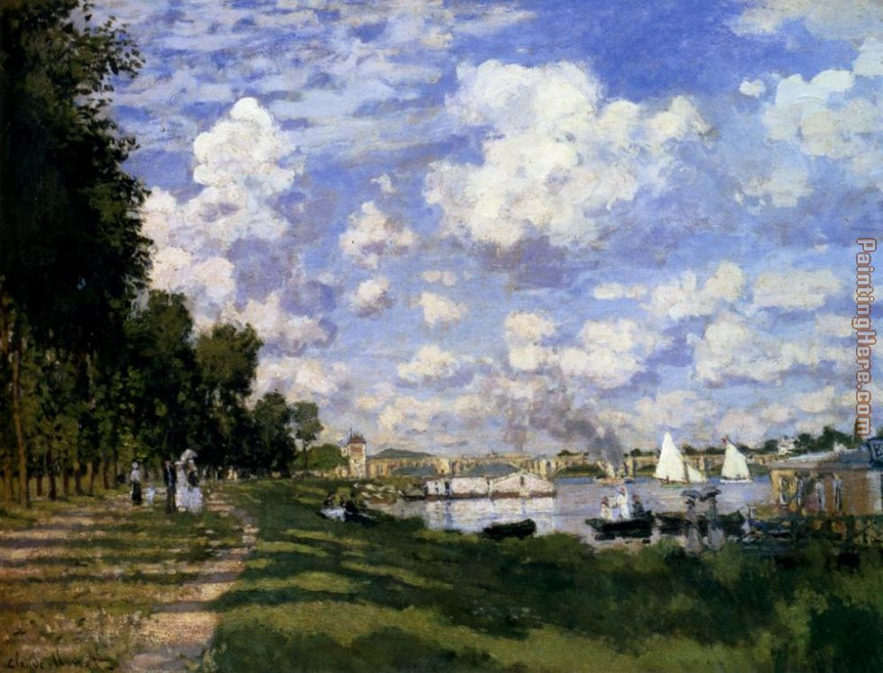The Marina At Argenteuil painting - Claude Monet The Marina At Argenteuil art painting