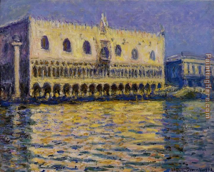 Claude Monet The Palazzo Ducale Art Painting