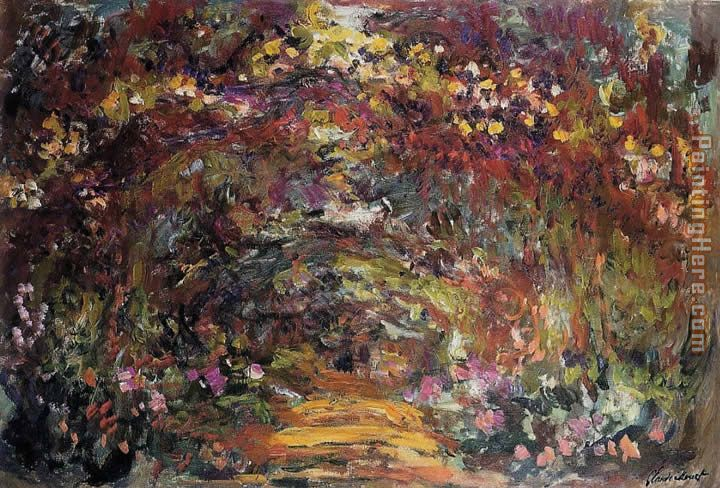 The Path under the Rose Trellises Giverny painting - Claude Monet The Path under the Rose Trellises Giverny art painting