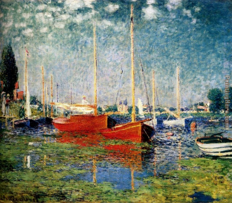 Claude Monet S Painting Red Boats