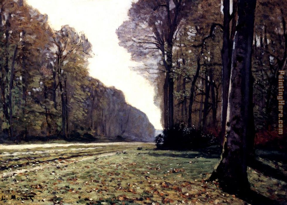 The Road To Chailly painting - Claude Monet The Road To Chailly art painting