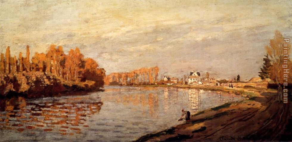 Claude Monet The Seine At Argenteuil I Art Painting