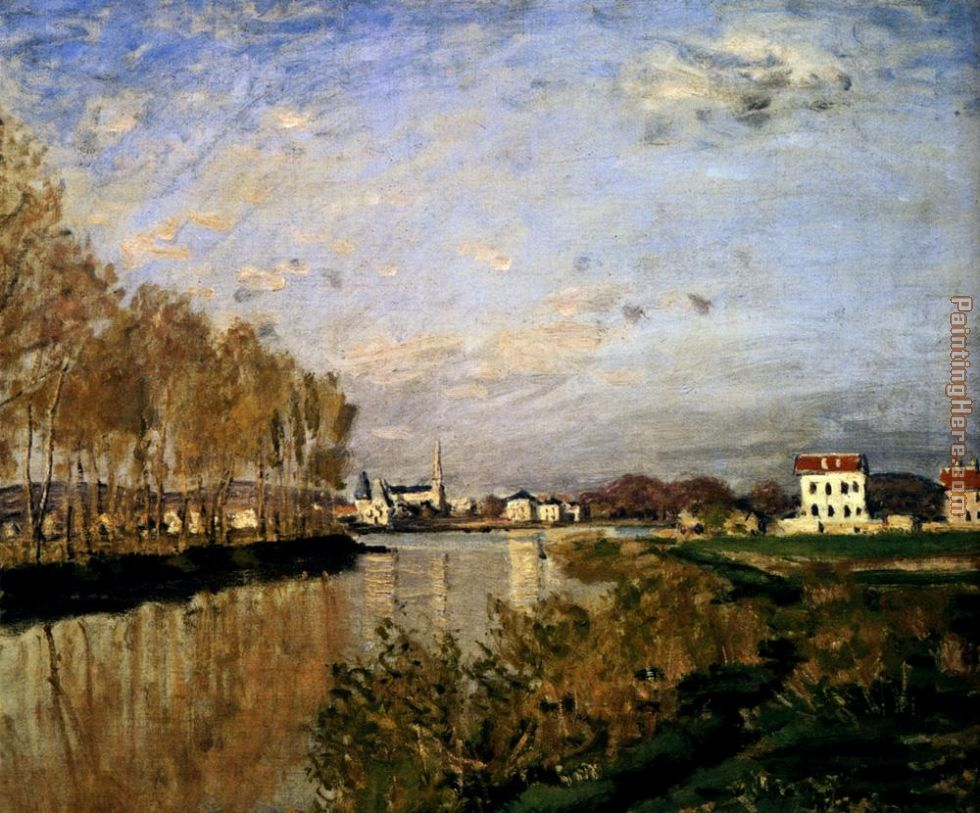 Claude Monet The Seine At Argenteuil Art Painting