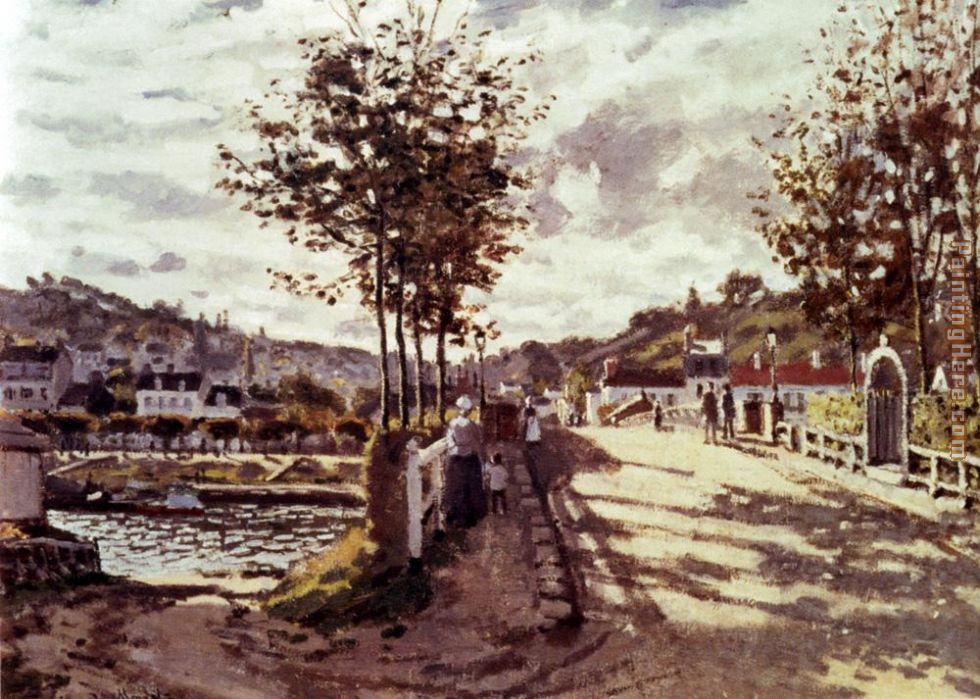 The Seine At Bougival painting - Claude Monet The Seine At Bougival art painting