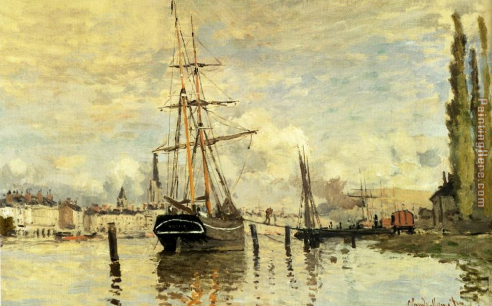 The Seine At Rouen painting - Claude Monet The Seine At Rouen art painting