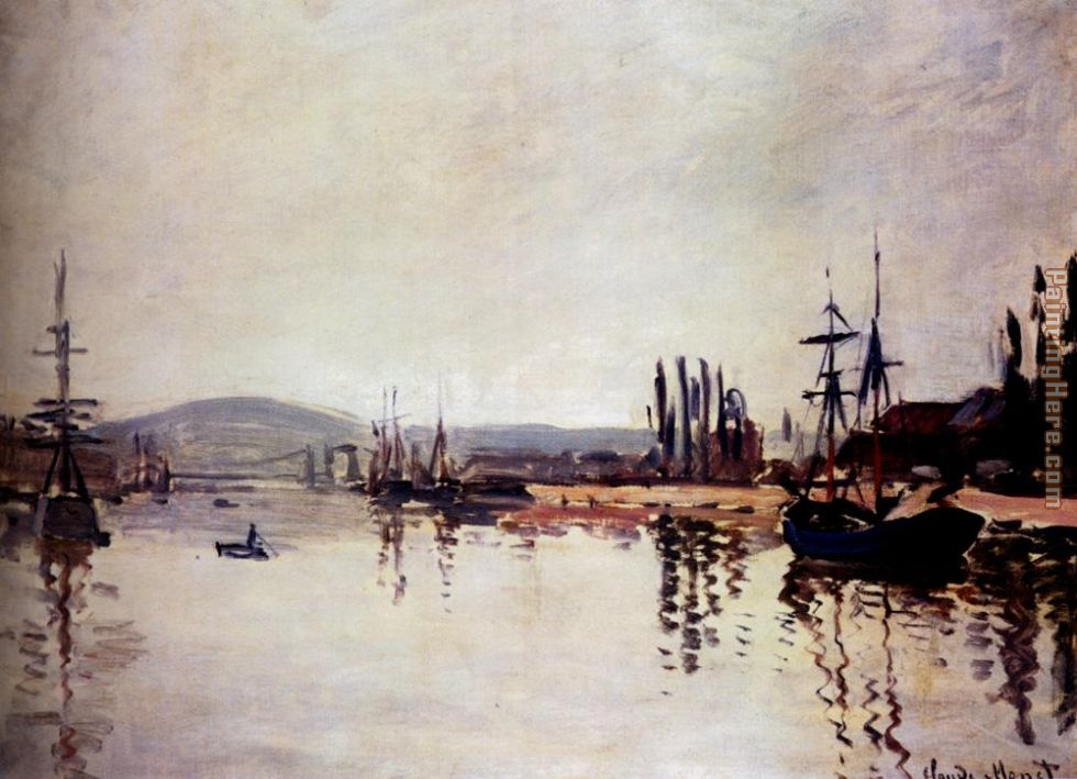 The Seine Below Rouen painting - Claude Monet The Seine Below Rouen art painting