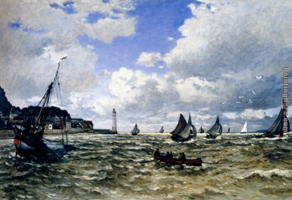 The Seine Estuary At Honfleur