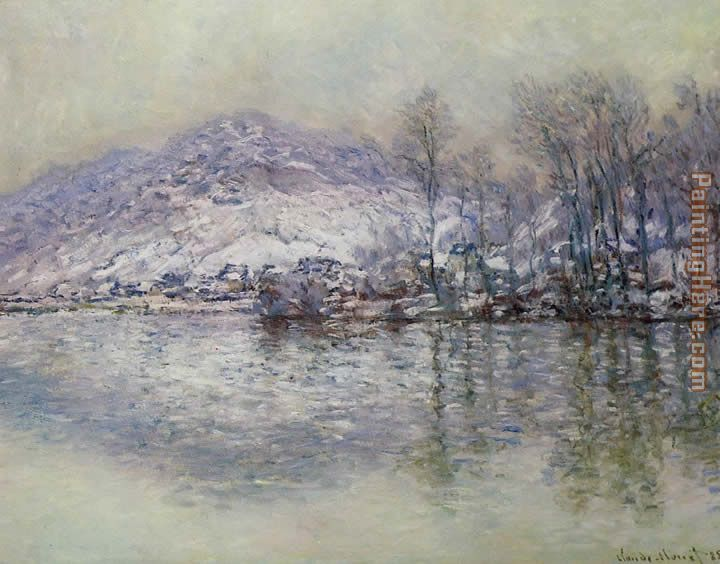 Claude Monet The Seine at Port Villez Snow Effect Art Painting