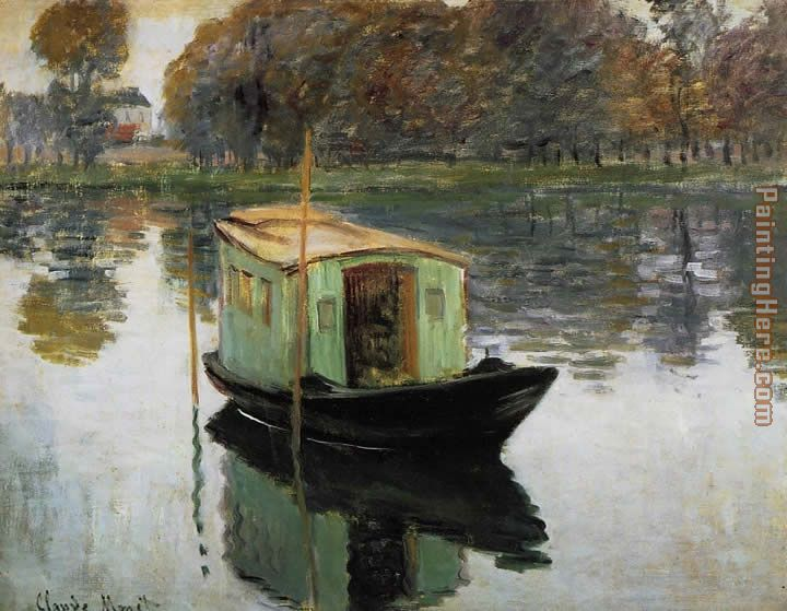 The Studio Boat painting - Claude Monet The Studio Boat art painting