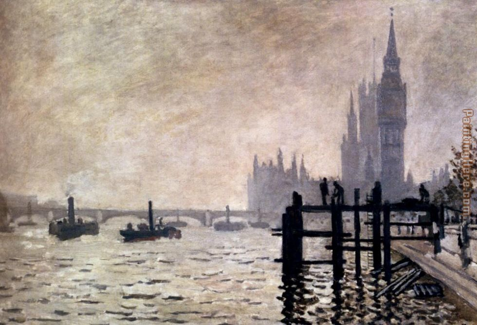 The Thames And The Houses Of Parliament painting - Claude Monet The Thames And The Houses Of Parliament art painting