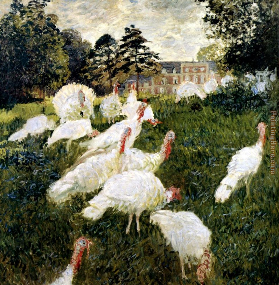 The Turkeys painting - Claude Monet The Turkeys art painting