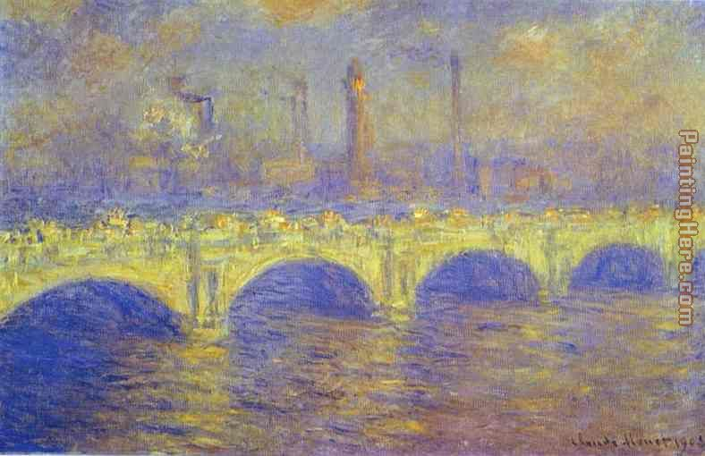 The Waterloo Bridge The Fog painting - Claude Monet The Waterloo Bridge The Fog art painting