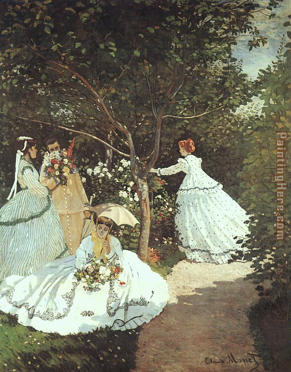 The women in the Garden painting - Claude Monet The women in the Garden art painting