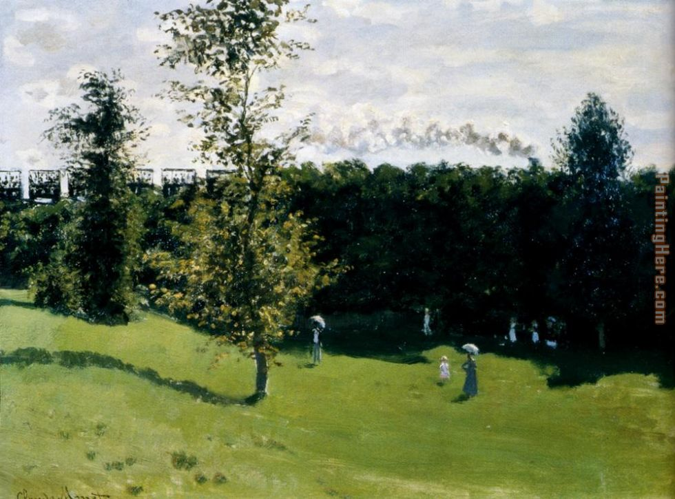 Train In The Country painting - Claude Monet Train In The Country art painting