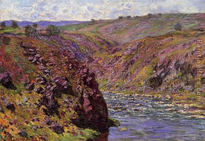 Valley of the Creuse Sunlight Effect painting - Claude Monet Valley of the Creuse Sunlight Effect art painting
