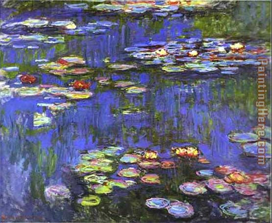 Water Lilies 1914 painting - Claude Monet Water Lilies 1914 art painting