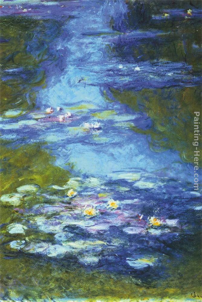 Water Lilies I painting - Claude Monet Water Lilies I art painting