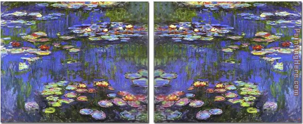 Water Lilies set painting - landscape Water Lilies set art painting