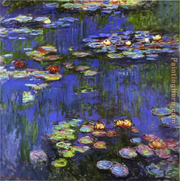Water-Lilies 1914 painting - Claude Monet Water-Lilies 1914 art painting
