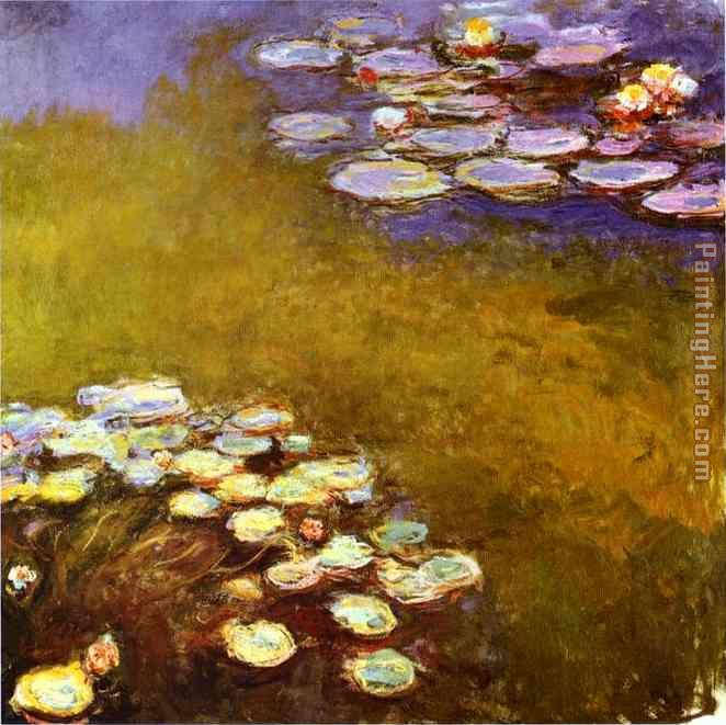 Water-Lilies 1917 painting - Claude Monet Water-Lilies 1917 art painting