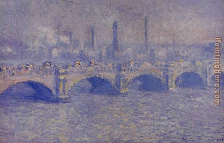 Waterloo Bridge Sunlight Effect 4 painting - Claude Monet Waterloo Bridge Sunlight Effect 4 art painting