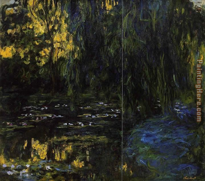 Weeping Willow and Water-Lily Pond 3 painting - Claude Monet Weeping Willow and Water-Lily Pond 3 art painting