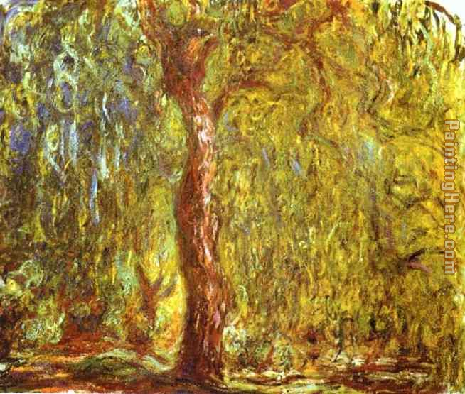 Weeping Willow painting - Claude Monet Weeping Willow art painting
