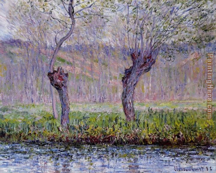 Willows in Spring painting - Claude Monet Willows in Spring art painting