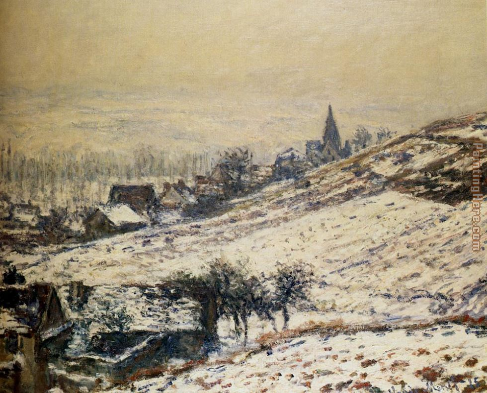 Winter At Giverny painting - Claude Monet Winter At Giverny art painting