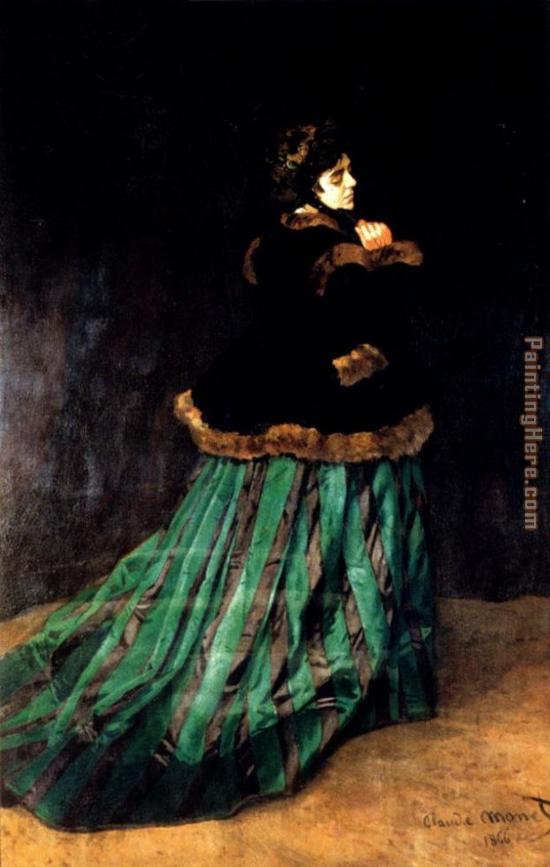 Woman In A Green Dress painting - Claude Monet Woman In A Green Dress art painting