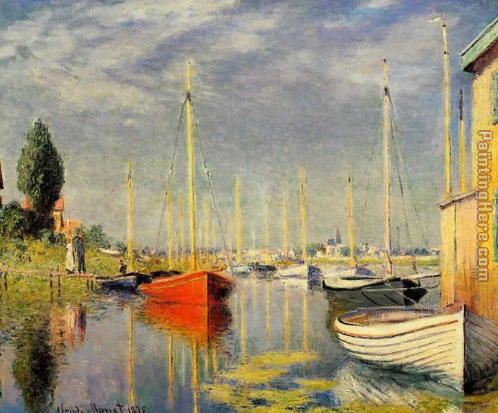 Yachts at Argenteuil painting - Claude Monet Yachts at Argenteuil art painting