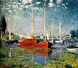 The Red Boats by Claude Monet