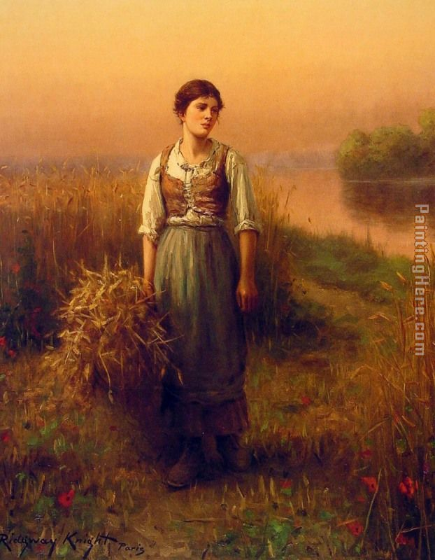 Daniel Ridgway Knight Normandy Maid Art Painting