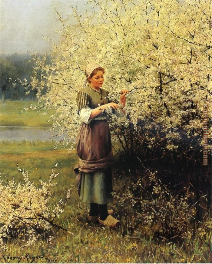 Daniel Ridgway Knight Spring Blossoms Art Painting