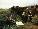 The Honeymoon Breakfast by Daniel Ridgway Knight