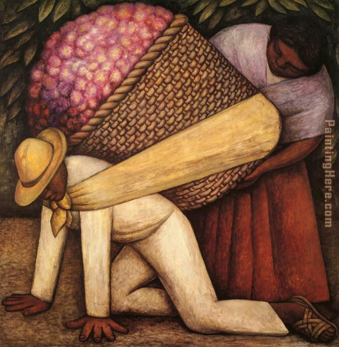 The Flower Carrier painting - Diego Rivera The Flower Carrier art painting