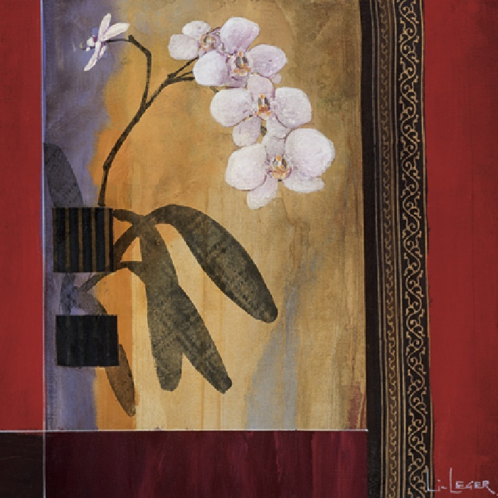 Don Li-Leger Orchid Lines I Art Painting