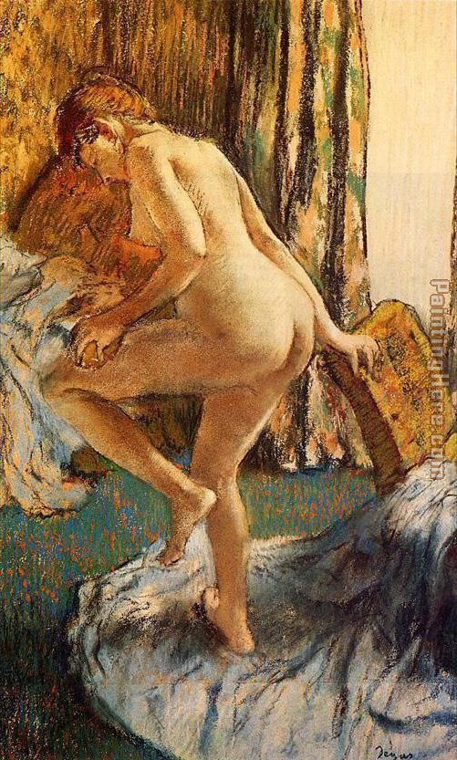 After the Bath painting - Edgar Degas After the Bath art painting