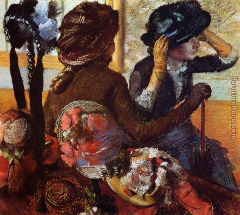 Edgar Degas At the Milliners Art Painting