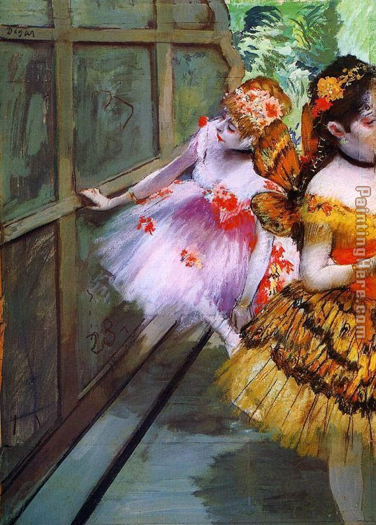 Ballet Dancers in Butterfly Costumes detail painting - Edgar Degas Ballet Dancers in Butterfly Costumes detail art painting