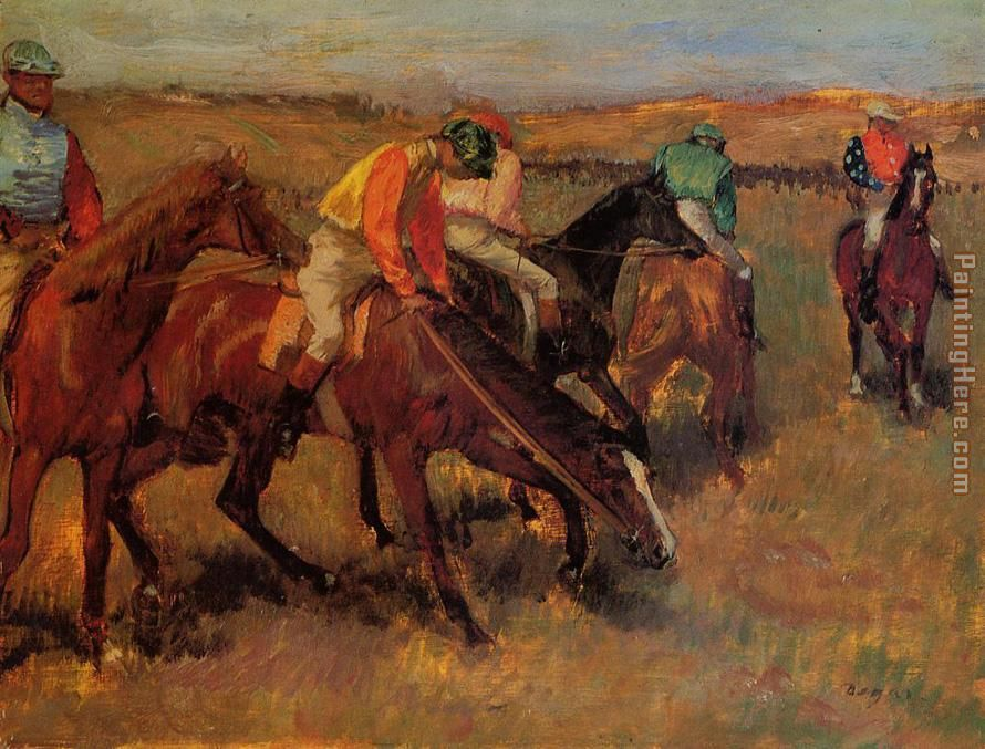 Before the Race painting - Edgar Degas Before the Race art painting