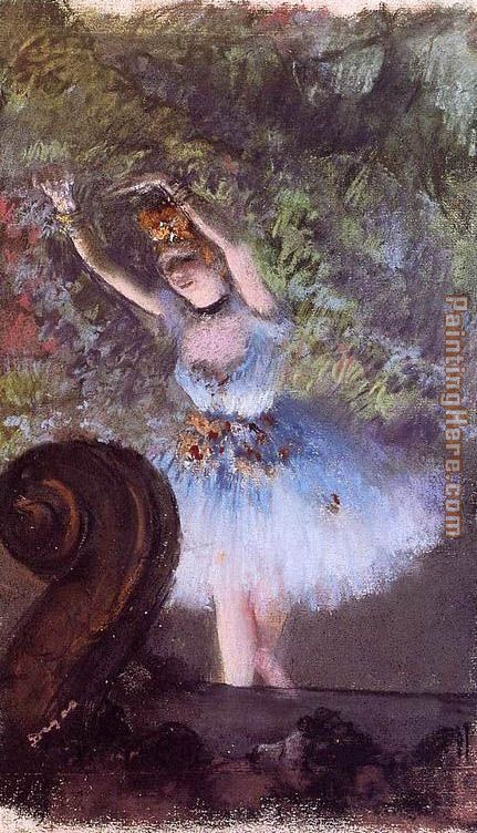 Dancer III painting - Edgar Degas Dancer III art painting