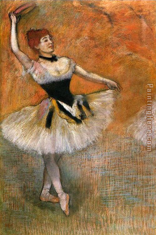 Dancer with a tambourine painting - Edgar Degas Dancer with a tambourine art painting