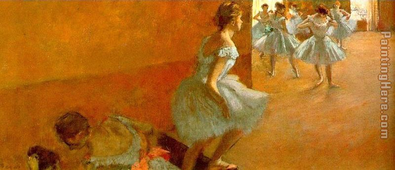 Dancers Climbing the Stairs painting - Edgar Degas Dancers Climbing the Stairs art painting