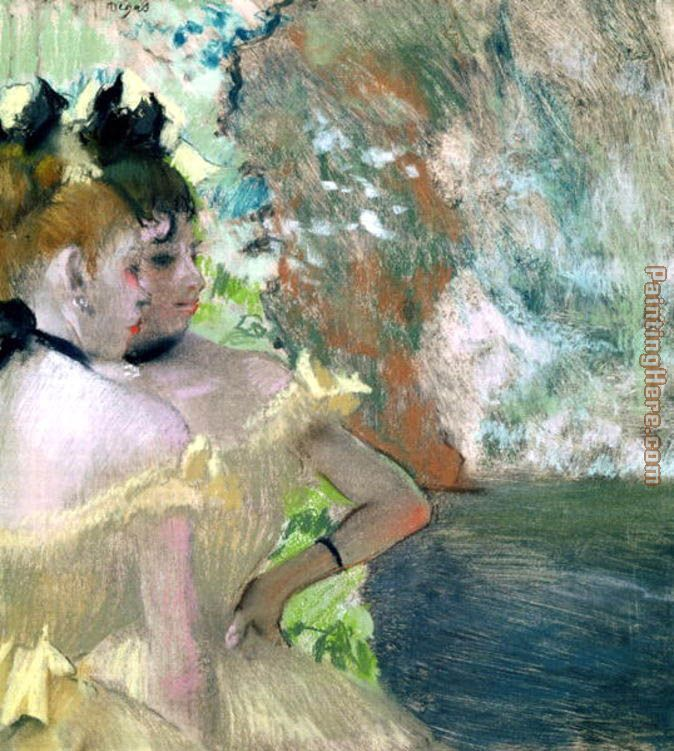Dancers in the Wings 2 painting - Edgar Degas Dancers in the Wings 2 art painting